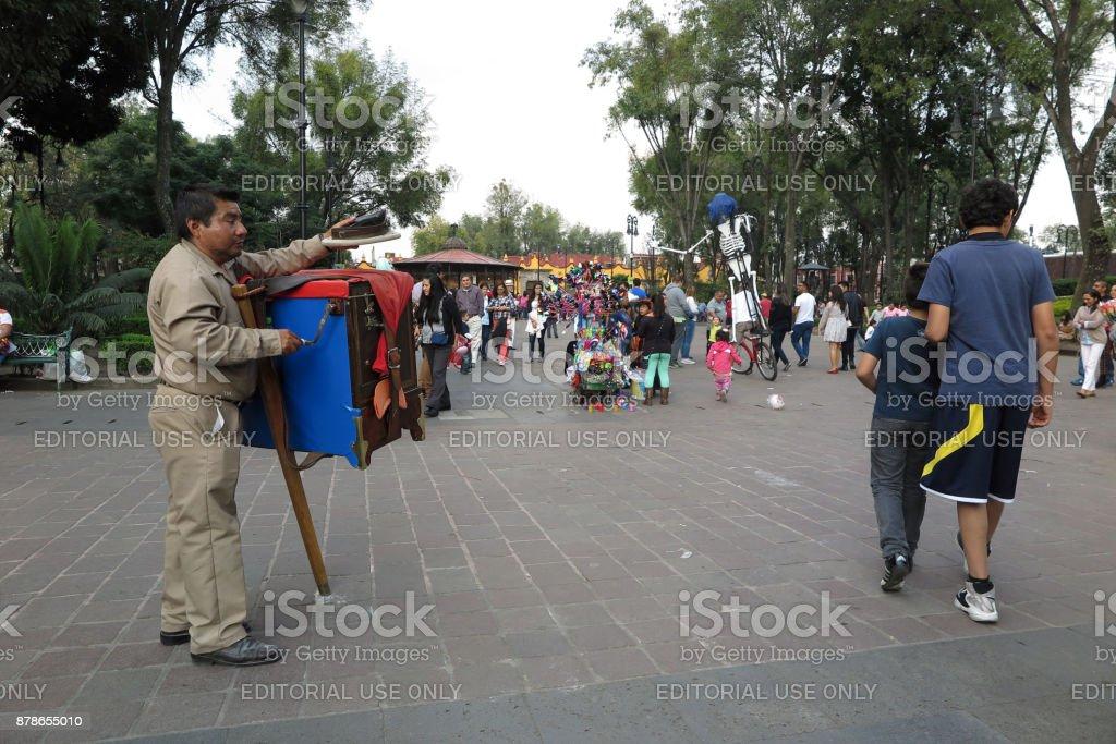 Coyoacan Neighborhood, Mexico City stock photo