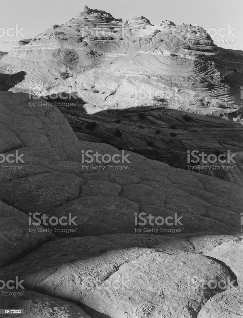 coyote buttes, B&W royalty-free stock photo