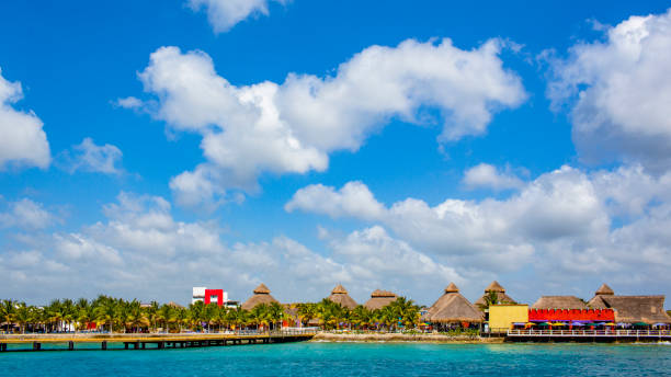 Cozumel Beach stock photo