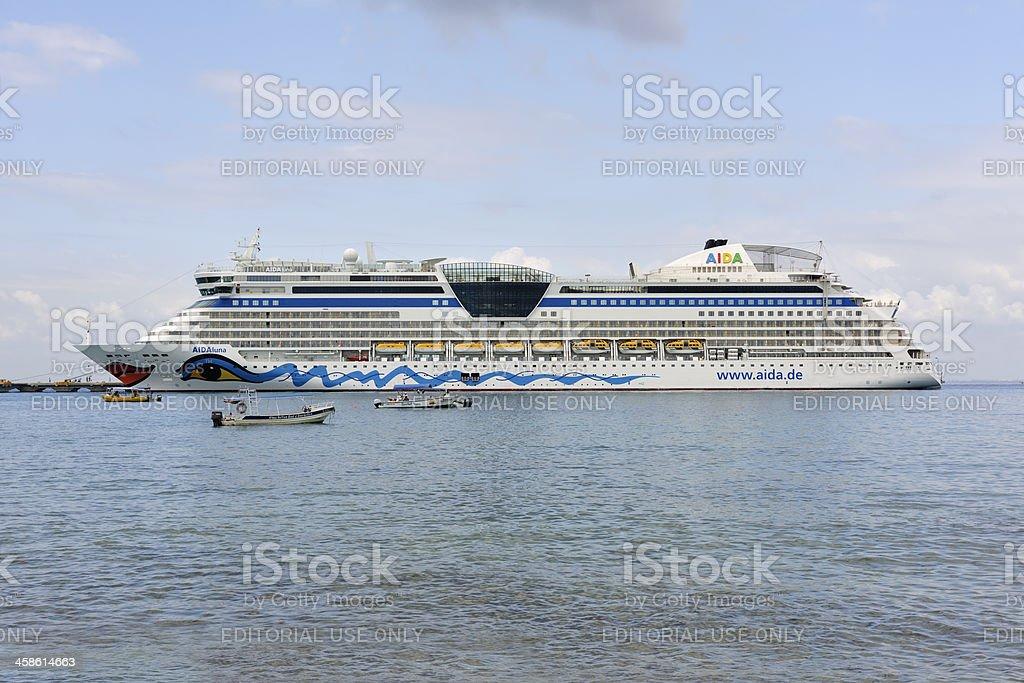 Cozumel, Mexico Cruise Ship Docked royalty-free stock photo