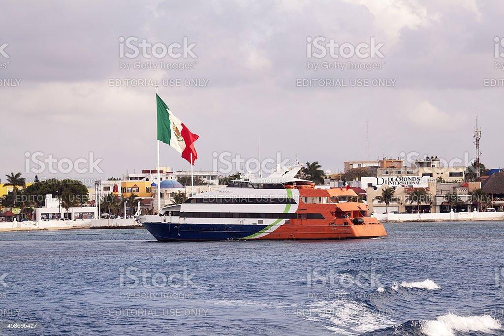 Cozumel Mexico ferry boat royalty-free stock photo