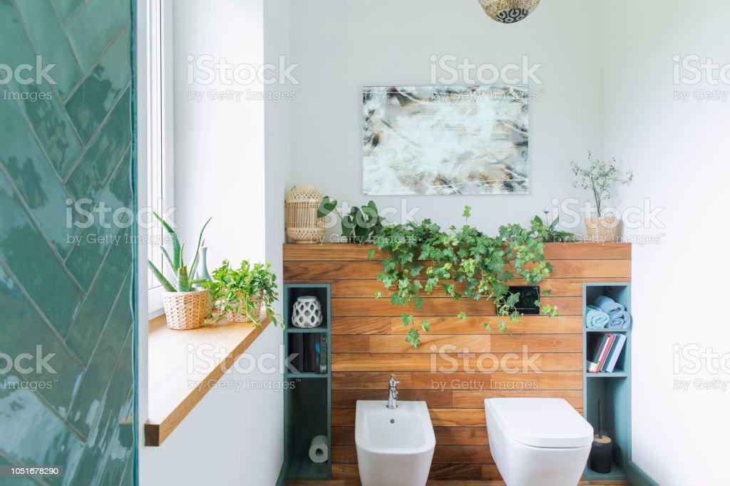 Gemütlich Und Mediterrane Stilvollen Badezimmer In Warmen ...