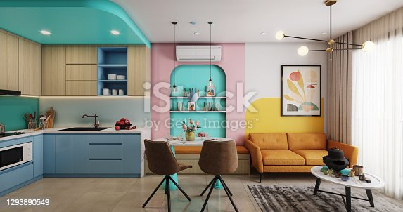 istock Cozy and Modern Small Apartment 1293890549