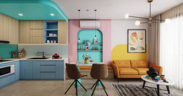 Cozy and Modern Small Apartment stock photo