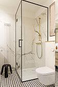 Cozy and stylish bathroom.