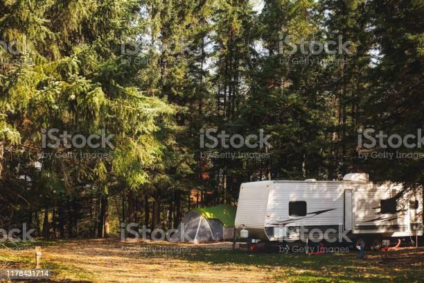 Photo of A cozy autumn campsite