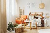 istock Cozy bedroom interior 883055180