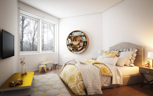 gemütliche schlafzimmer - shabby deko stock-fotos und bilder