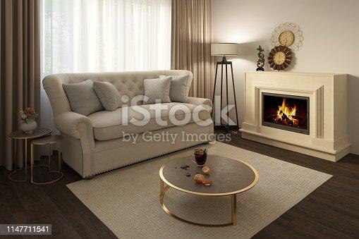 1095381860istockphoto A cozy beige livingroom 1147711541