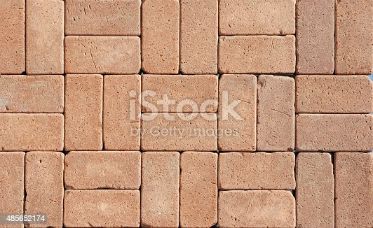 Cozy Ceramic Clinker Pavers for Patio. Floor pavers in a path, detail of a pavement to walk. Textured background.