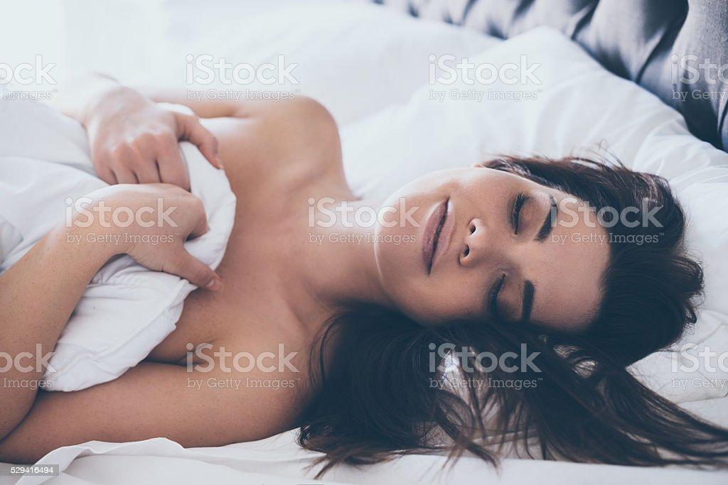 Cozy dreams. stock photo