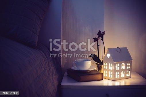 istock Cozy evening bedroom 506122998