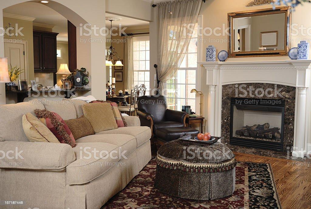 Cozy Family Room stock photo