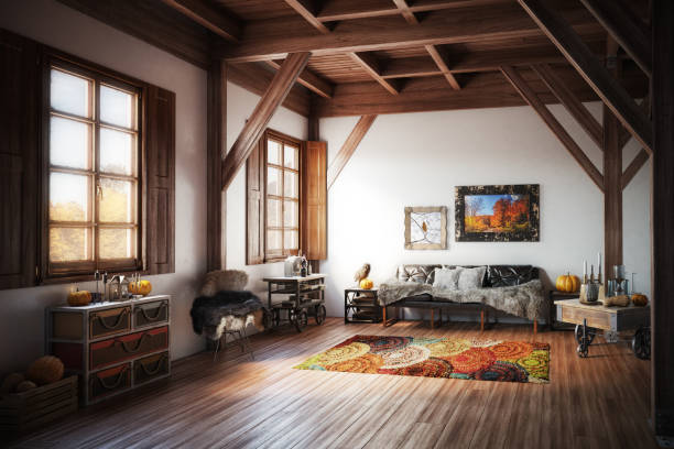 Cozy Home Interior stock photo