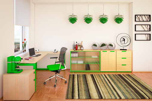 Cozy Home Office Interior Design