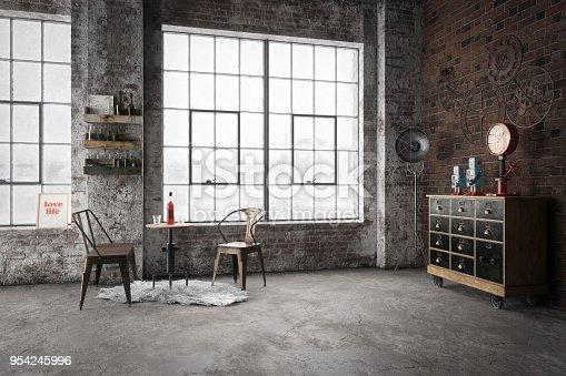 istock Cozy Industrial Style Interior 954245996