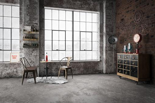Cozy Industrial Style Interior