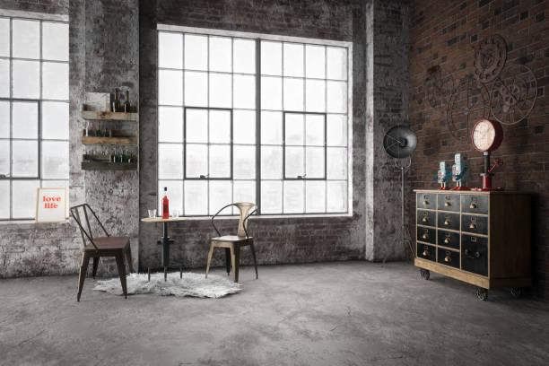 Intérieur confortable dans le Style industriel - Photo