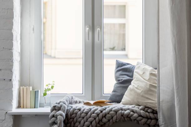 cozy leisure area - hygge imagens e fotografias de stock