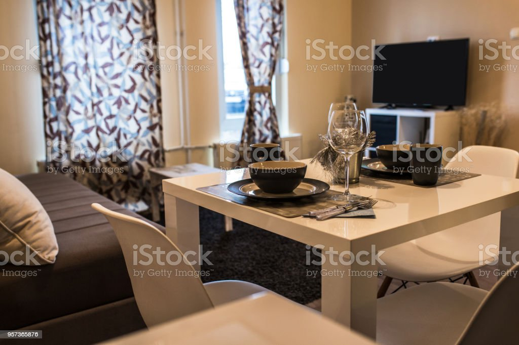 Cozy little apartment stock photo