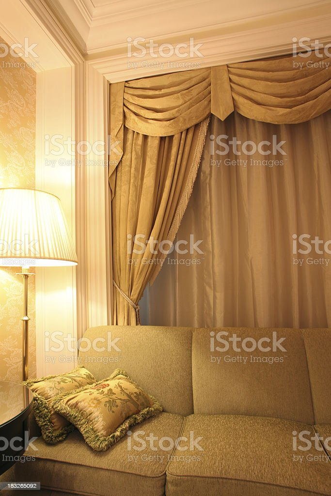 Cozy Living Room Corner stock photo