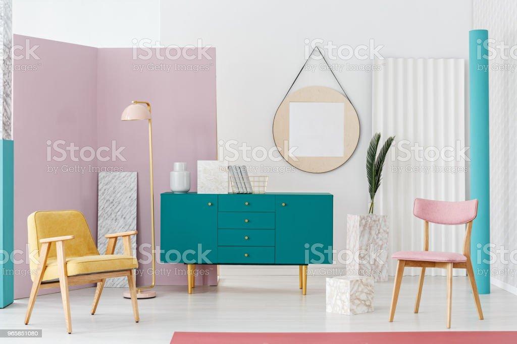 Gezellige woonkamer interieur - Royalty-free Appartement Stockfoto