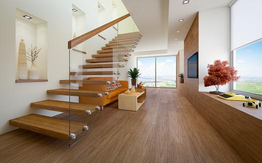 Cozy Loft Apartment Stock Photo - Download Image Now - iStock