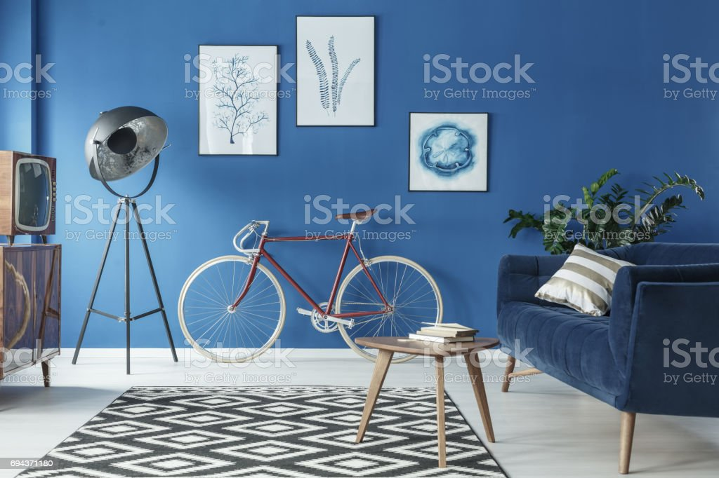 Cozy loft interior stock photo