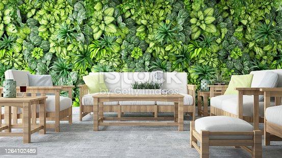 istock Cozy Lounge Outside 1264102489