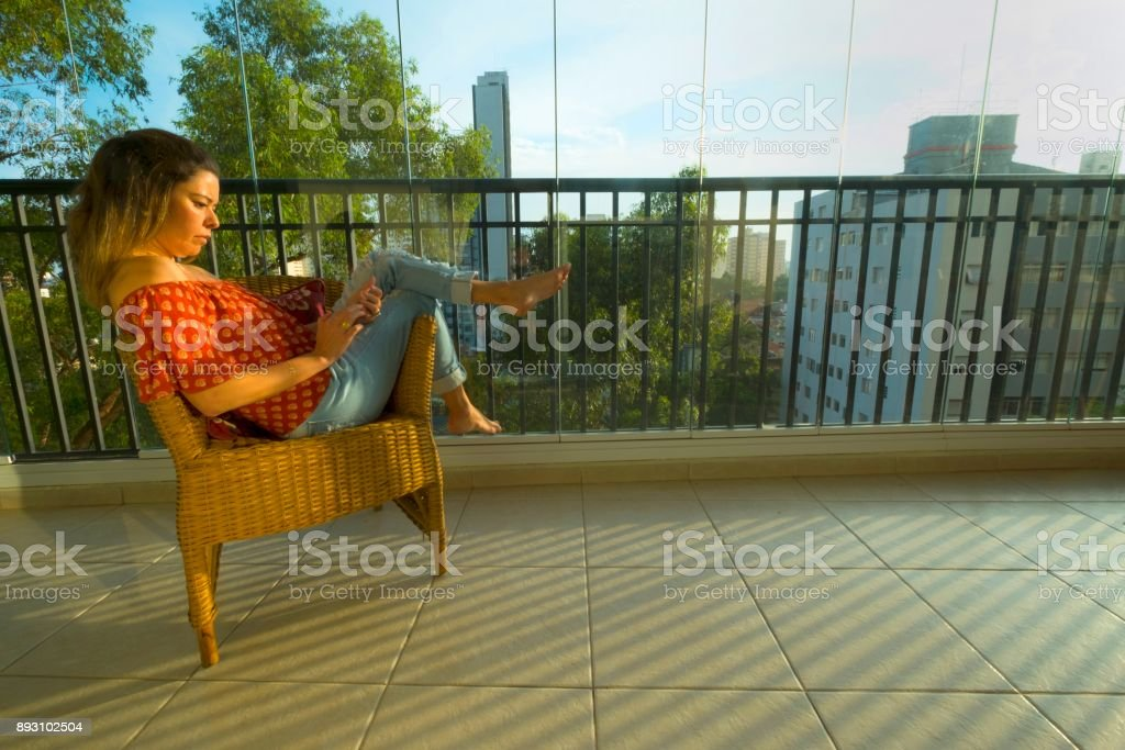 Cozy moment in home stock photo