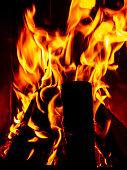 cozy open fire in winter background