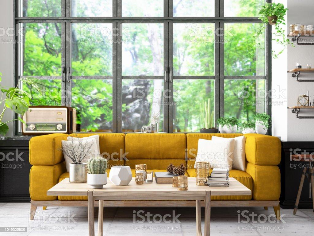 Strange Cozy Room With Plants Stock Photo Download Image Now Istock Ibusinesslaw Wood Chair Design Ideas Ibusinesslaworg