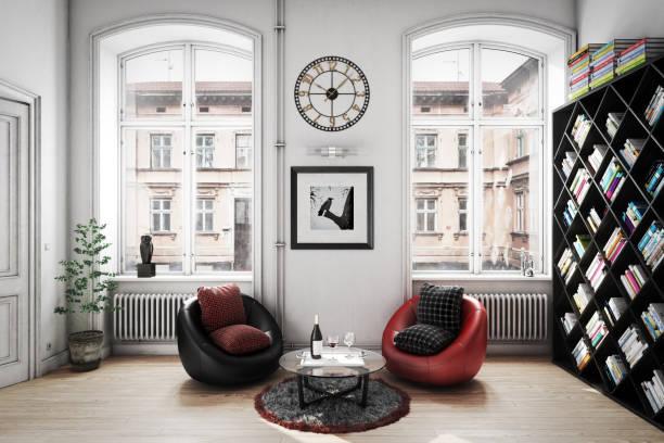 Gemütliches skandinavisches Innenraum – Foto