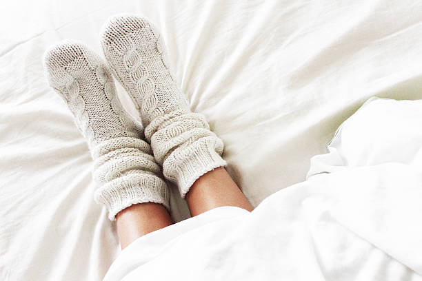 Cozy socks stock photo