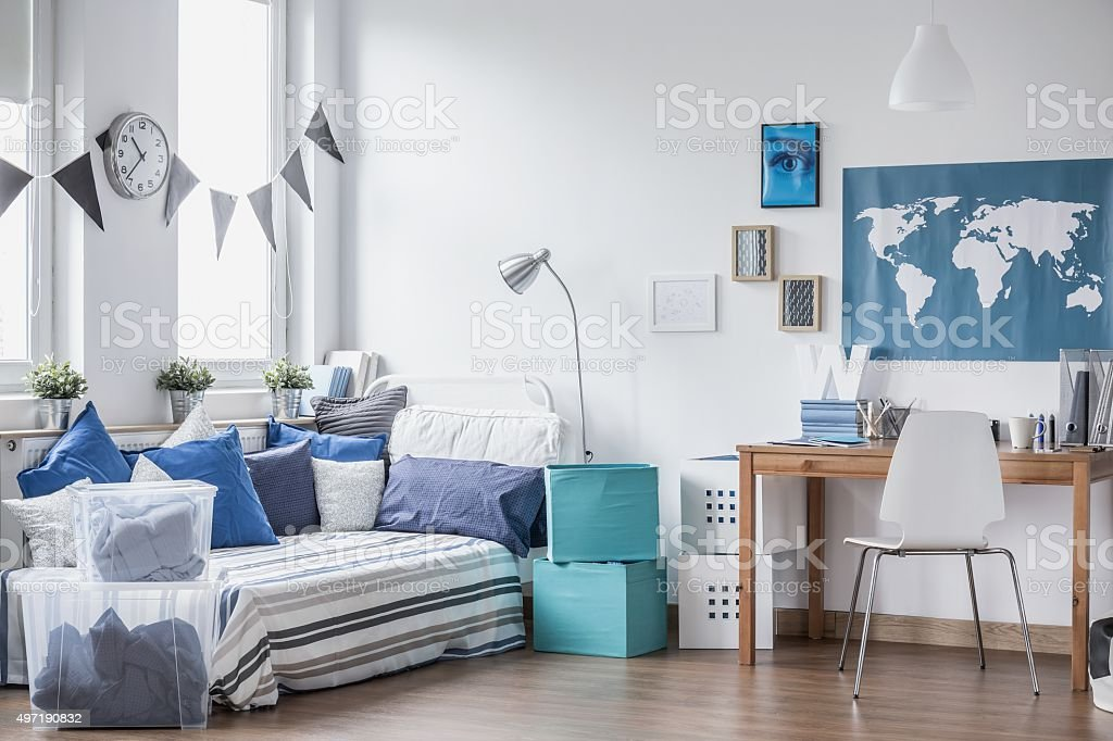 Cozy space for boy stock photo