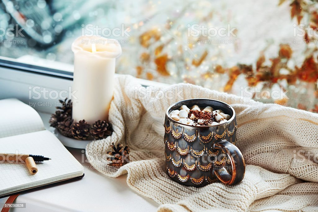 cozy still life stock photo