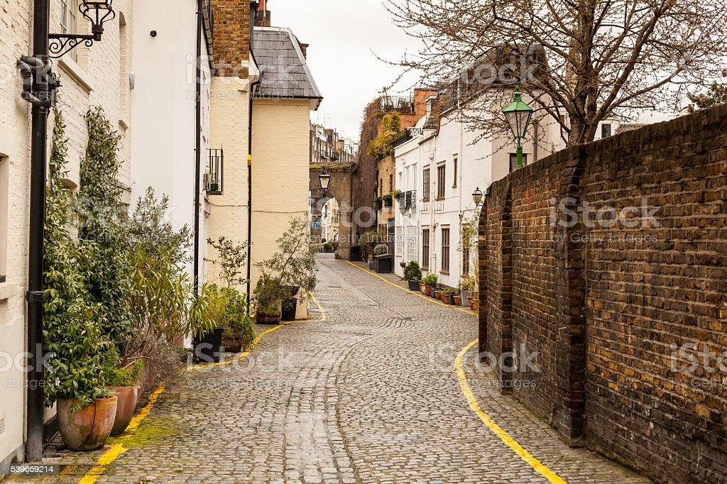 Cozy street in London, UK stock photo