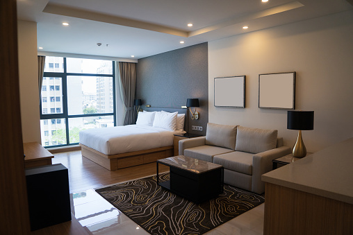 Cozy Studio Apartment Design With Bedroom And Living Space ...