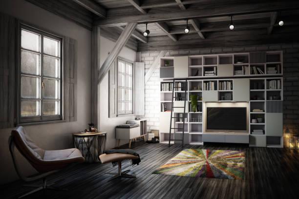 Cozy Studio Apartment stock photo