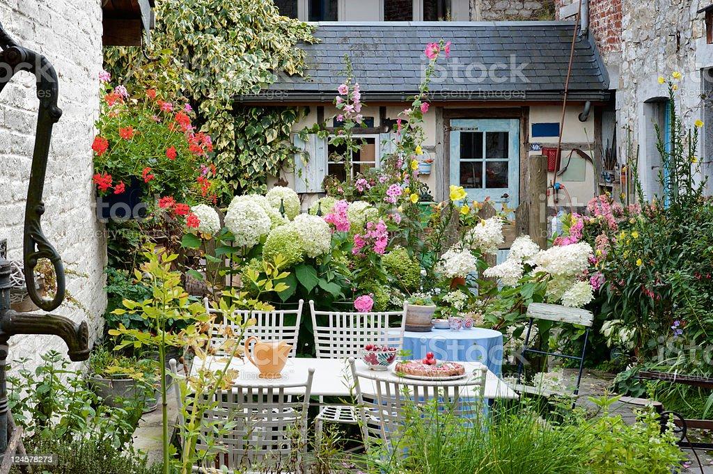 Cozy vintage backyard royalty-free stock photo