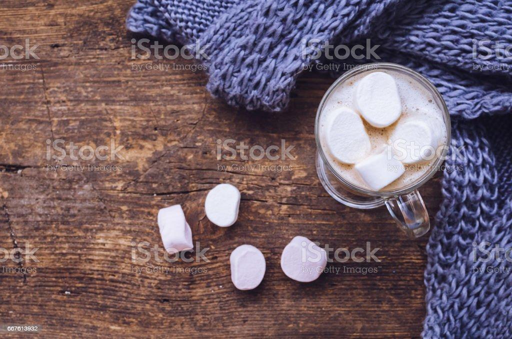 Cozy winter home background stock photo