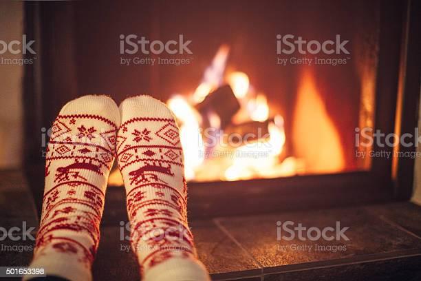 Cozy Winter Night Stockfoto en meer beelden van Begrippen