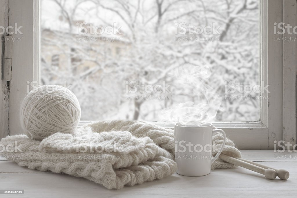 Aconchegante no inverno ainda vida - foto de acervo