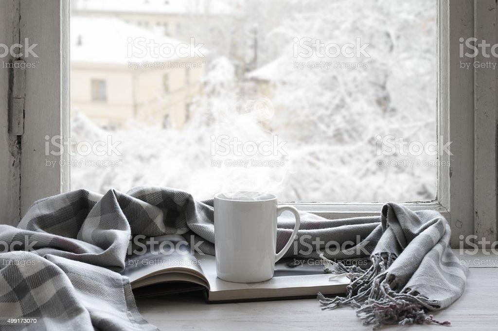 Acogedor invierno vida - foto de stock