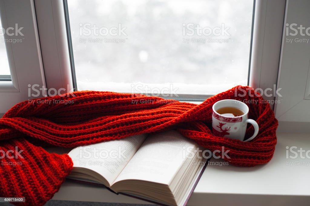 Cozy winter still life stock photo