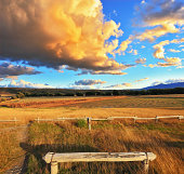 Heavenly landscape with clouds. Cumulus clouds in the sky.