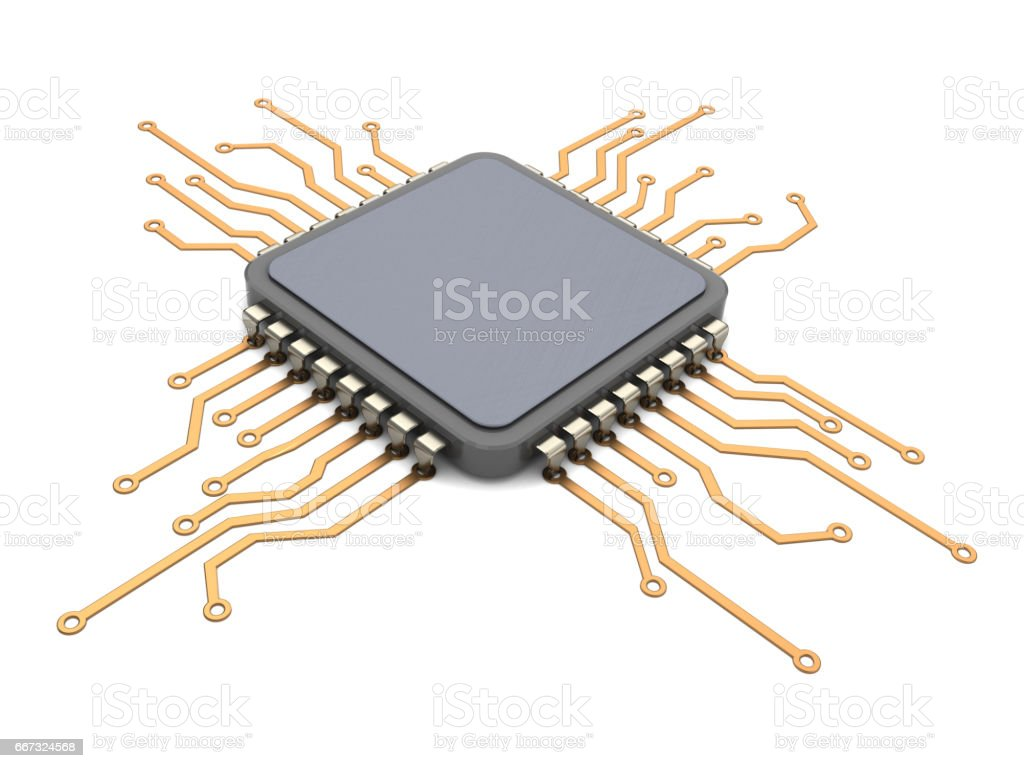 cpu circuit stock photo