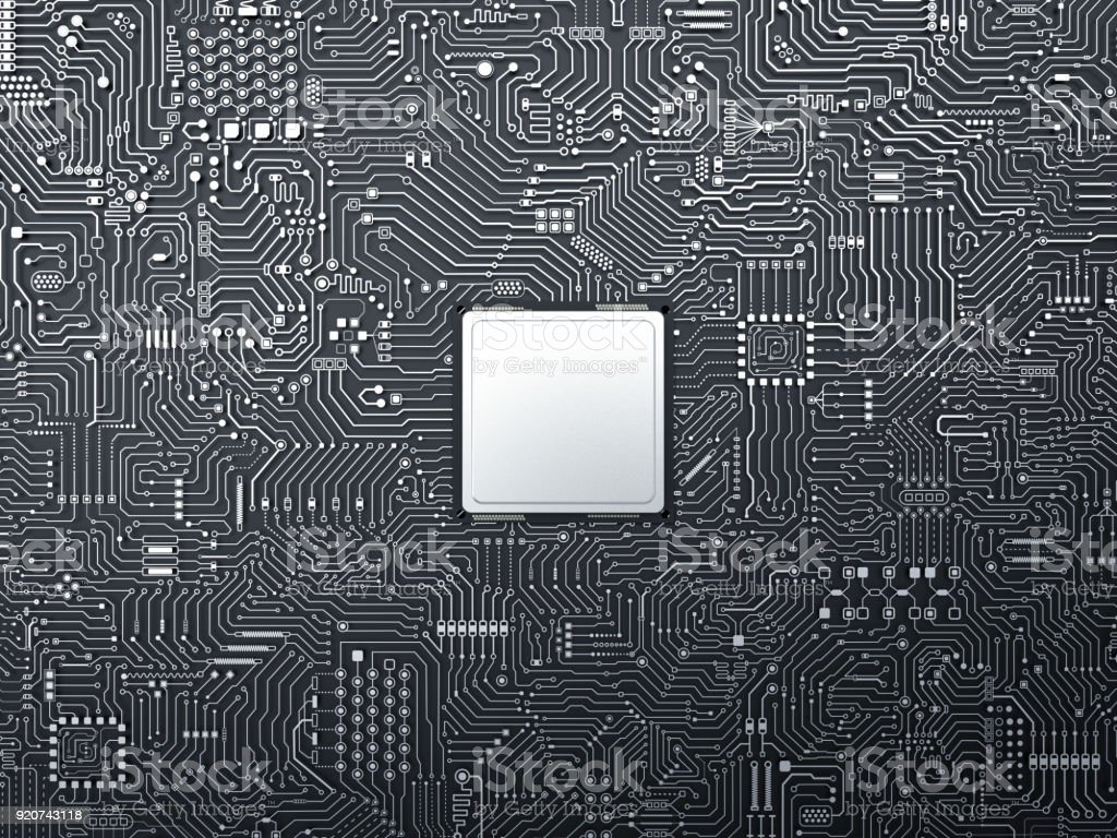 cpu on circuit board - Royalty-free Backgrounds Stock Photo