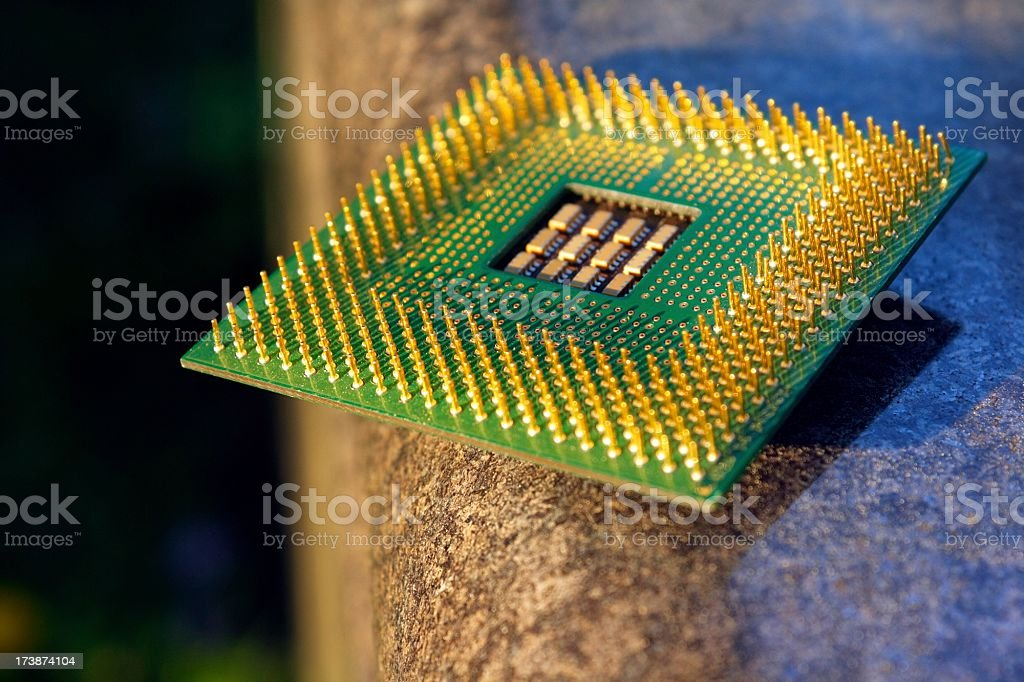cpu on sand royalty-free stock photo