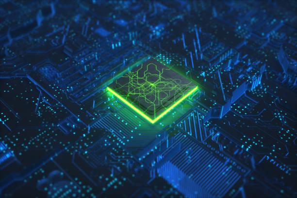 Cpu-Technologie-Netzwerke Board-Hintergrund – Foto